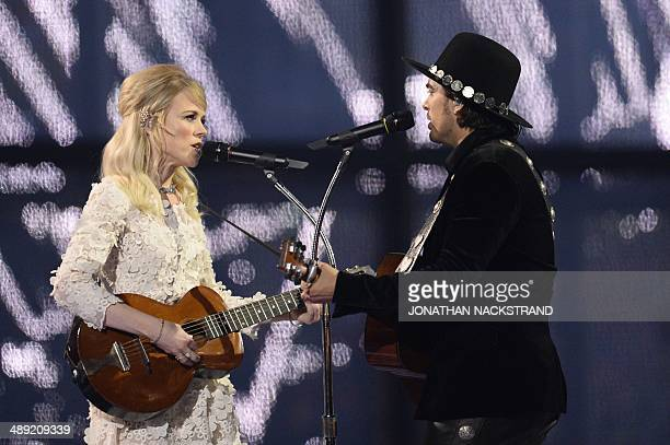 The Common Linnets representing the Netherlands perform during the Eurovision Song Contest 2014 Grand Final in Copenhagen Denmark on May 10 2014 AFP...