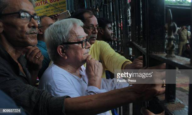 The Communist Party of India leader Mr Biman Basu attended a protest rally and meeting against west bengal chief minister Ms Mamata Banerjee on...