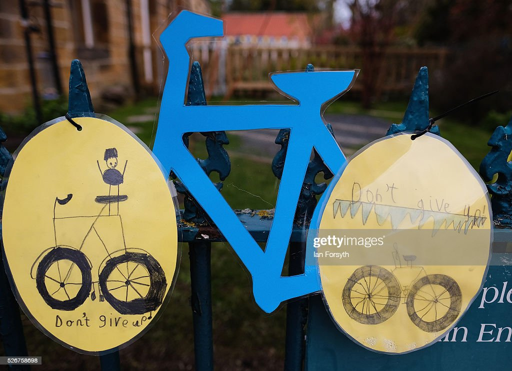 The community at Great Ayton have come together to decorate their village ahead of stage three of the Tour de Yorkshire cycle race on May 1, 2016 in Great Ayton, England. Returning for a second year the hugely popular race has grown to be one of the most spectacular events in the British sporting calendar. Up to a million people have lined the route along the three stages to support the race which ends today with the 198km Middlesbrough to Scarborough leg.