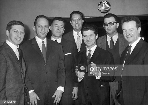 The Compagnons De La Chanson With Their Blason D'Or In Paris In 1961