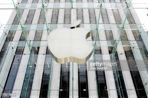 The company logo at the Apple store 26 June 2007 in New York The release of Apple's muchballyhooed iPhone on 29 June is expected to give a boost to...