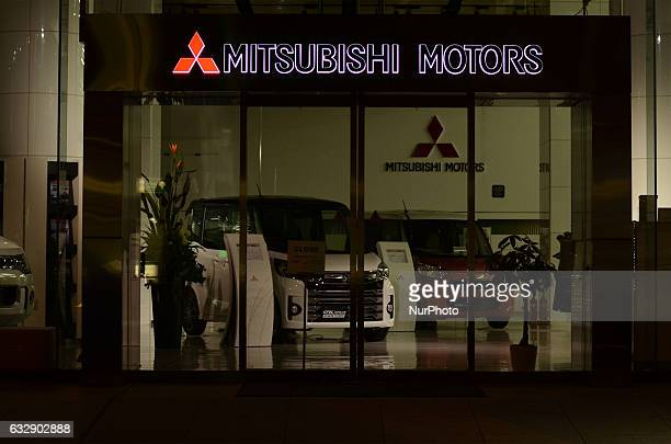 The company logo of Mitsubishi Motors is seen at its headquarters in Tokyo Japan January 28 2017