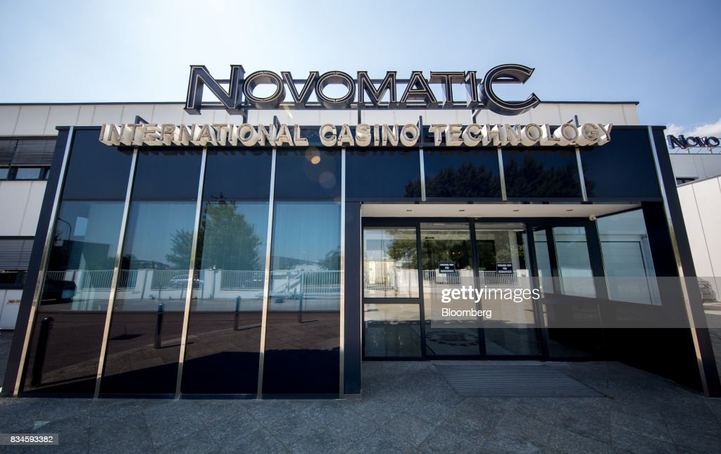 The company logo of Novomatic sits on top of the Novomatic AG headquarters in Gumpoldskirchen, Austria, on Thursday, Aug. 17, 2017. Novomatic is preparing for an initial public offering that could value the Austrian casino and gaming business at about 6 billion euros ($6.3 billion), according to people familiar with the matter. Photographer: Lisi Niesner/Bloomberg via Getty Images