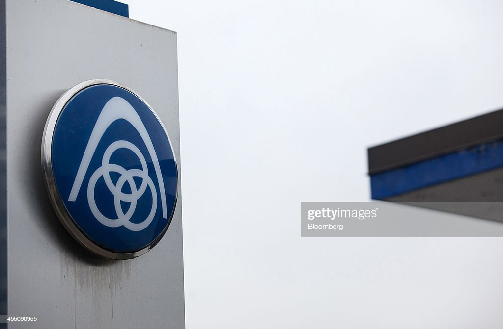 the company logo sits on a sign outside the thyssenkrupp. Black Bedroom Furniture Sets. Home Design Ideas