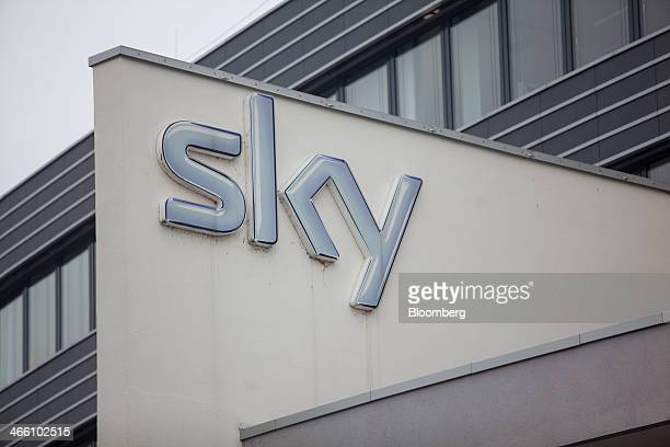 The company logo sits outside the German headquarters of Sky Deutschland AG in Unterfoehring Germany on Friday Jan 31 2014 BSkyB has a growing...