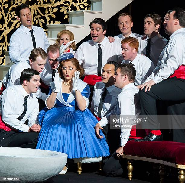 The Company perform on stage during a performance of L'italiana in Algeri at Garsington Opera at Wormsley on June 1 2016 in High Wycombe England