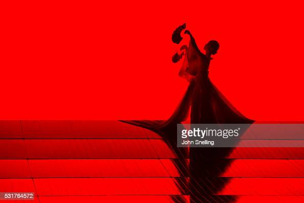 The Company perform on stage during a performance of Madam Butterfly by the English National Opera at the London Coliseum on May 14 2016 in London...