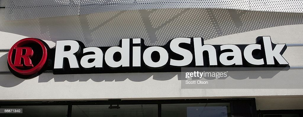 The company's logo hangs over a RadioShack store February 17, 2006 in Chicago, Illinois. The retail chain recently announced that it would close up to 700 company-operated stores. The company also issued an earnings warning, based in part on lowered expectations from the company's wireless business.