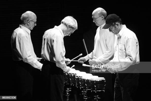 The composer Steve Reich's 70yearold birthday celebration at Zankel Hall on October 22 2006'n This image Steve Reich with a black cap on and his...