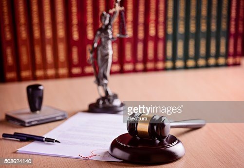 The composition of the gavel and judgement : Stock Photo