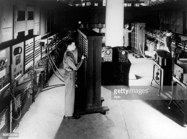 The computer ENIAC developed at the University of Pennsylvania in 1946 1st electronic computer