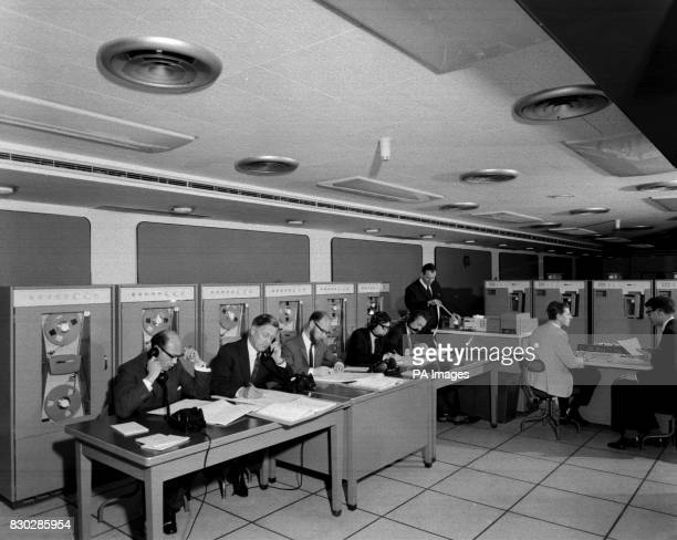 The computer room of the Press Association on Election night in 1964 For the first time ever in over seventy years of election coverage by the PA...