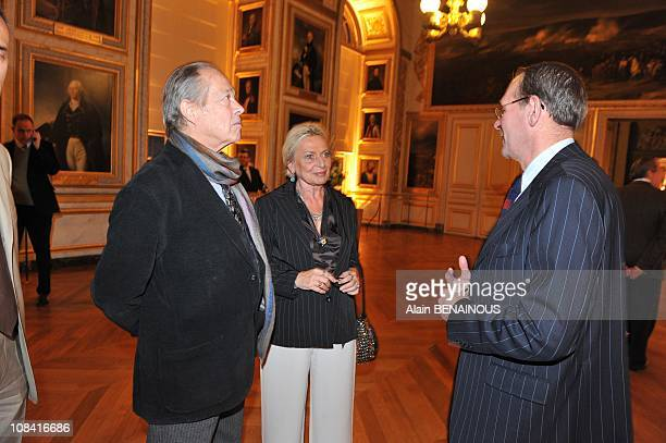 The Comte and Comtesse of Paris with Mr JeanJacques Aillagon president of the Chateau de Versailles in Versailles France on October 13th 2008