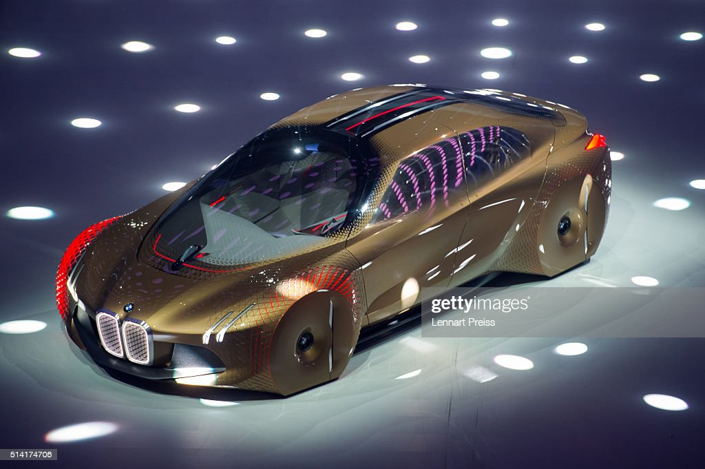 The concept car 'Vision Next 100' of German automaker BMW is presented during the celebration marking the 100th anniversary of BMW on March 7 2016 in...