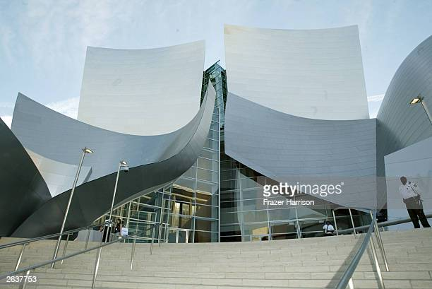 The Concert Hall Exterior at the Walt Disney Concert Hall opening gala day one of three October 23 2003 in Los Angeles California Tonight Sonic LA a...