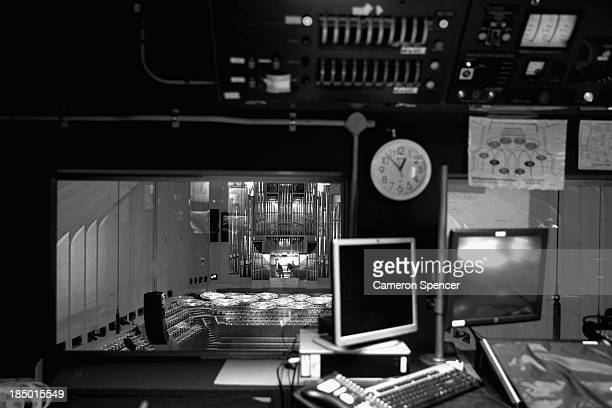 The concert hall is seen from the audiovisual control room inside the Sydney Opera House on September 20 2013 in Sydney Australia On October 20 2013...