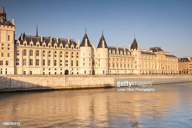 The Conciergerie and the River Seine, Paris.