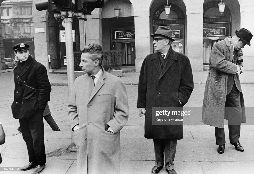 The Conductor Herbert Von Karajan In Front Of La Scala Where He Directs The Rehearsals Of 'La Boheme' On January 24Th, 1963