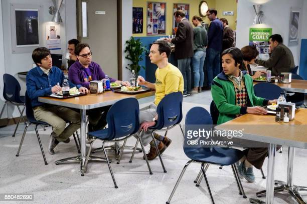 'The Confidence Erosion' Pictured Howard Wolowitz Leonard Hofstadter Sheldon Cooper and Rajesh Koothrappali Sheldon and Amy try to eliminate stress...