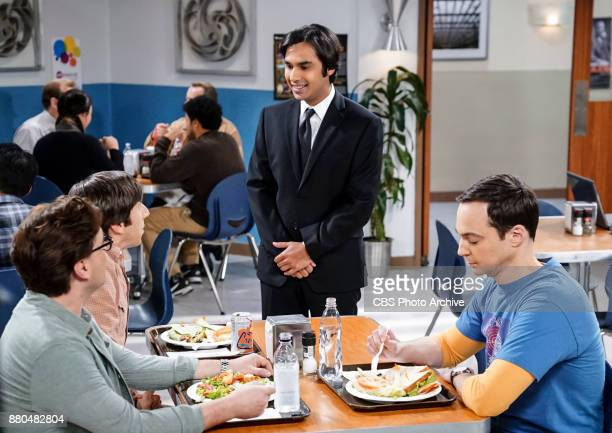 'The Confidence Erosion' Pictured Leonard Hofstadter Howard Wolowitz Rajesh Koothrappali and Sheldon Cooper Sheldon and Amy try to eliminate stress...
