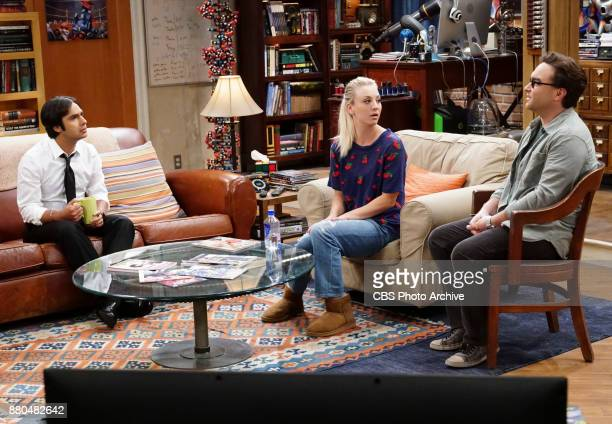 'The Confidence Erosion' Pictured Rajesh Koothrappali Penny and Leonard Hofstadter Sheldon and Amy try to eliminate stress from wedding planning by...