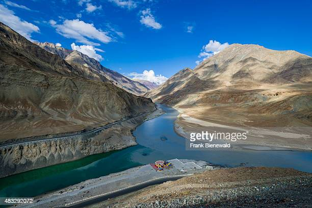 The confluence of the two rivers Zanskar and Indus is located about 30 kilometers from Leh