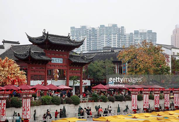 The Confucius Temple stands in Nanjing Jiangsu Province China on Wednesday Nov 9 2011 The HopkinsNanjing Center opened in 1986 as the first campus...
