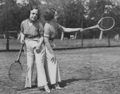 The conjoined English Hilton sisters whose talents include singing dancing and playing musical instruments are now endeavoring to take up the sport...