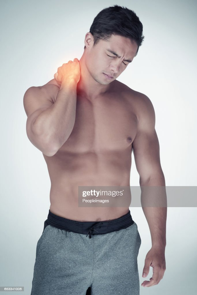 The consequences of pushing your body too far : Stock Photo
