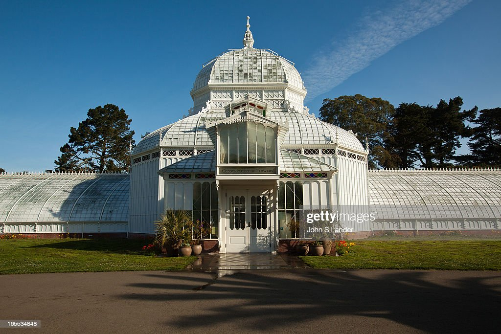 The Conservatory of Flowers is a greenhouse and botanical garden that houses a collection of rare and exotic plants in Golden Gate Park, With construction completed in 1878, it remains the oldest building in the park, and the oldest municipal wooden conservatory in the United States. For these distinctions and for its associated historical, architectural, and engineering merits, the Conservatory of Flowers is listed on the National Register of Historic Places, the California Register of Historical Places. It is also a California Historical Landmark, and a San Francisco Designated Landmark..