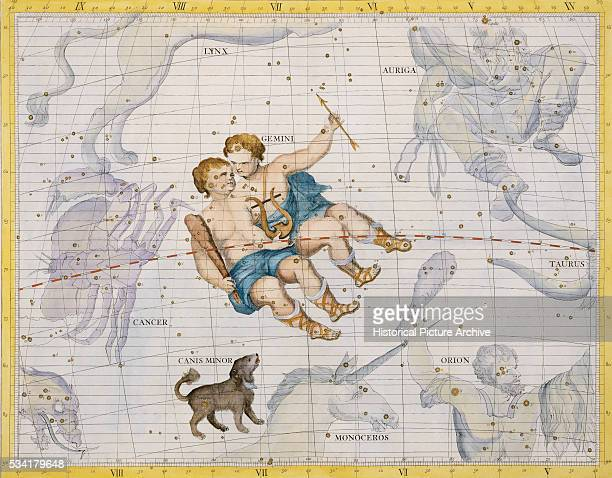 The Constellation of Gemini with Canis Minor by James Thornhill