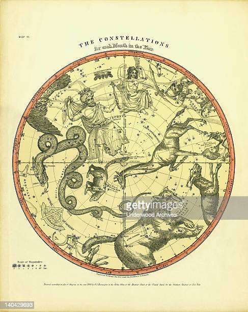 The Constellations for each month in the year for the Northern Hemisphere 1856