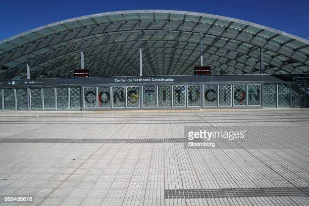 The Constitucion Center of Transportation stand empty during a national strike in Buenos Aires Argentina on April 6 2017 Argentina was brought to a...