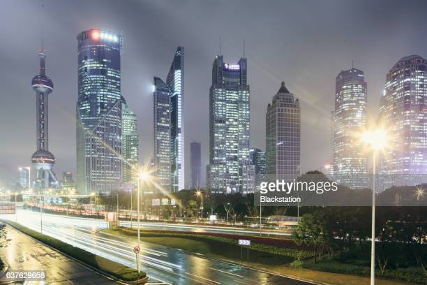 the construction groups in Lujiazui Financial District