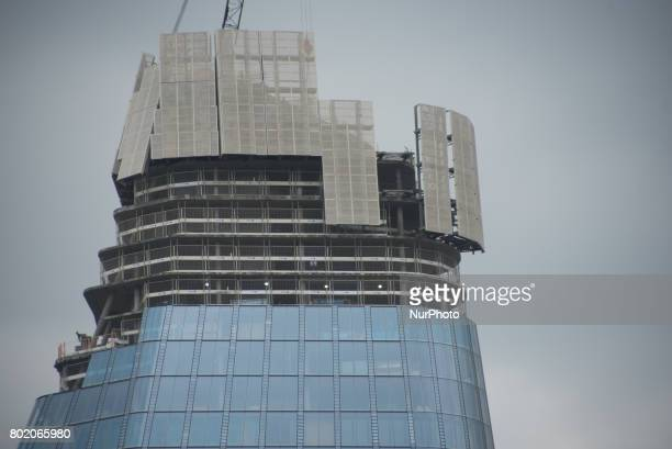 The construction of One Blackfriars also known as The Vase is seen in London on June 27 2017 The Vase or One Blackfriars does not have a single...