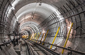 The construction of the subway tunnel