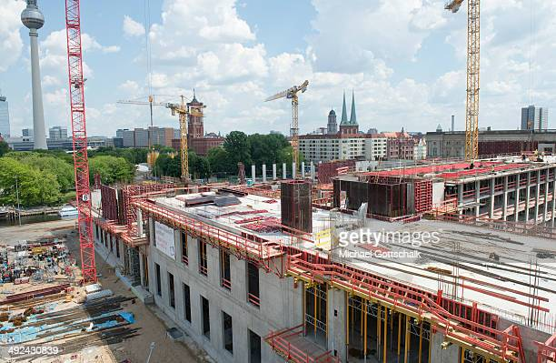 The construction site of Berlin Palace is seen on May 20 2014 in Berlin Germany The palace has been undergoing reconstruction since last year and is...