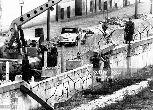 The construction site of the Berlin Wall on June 6 1961 The Wall was to minimize the flow of Eastern inhabitants moving to the West