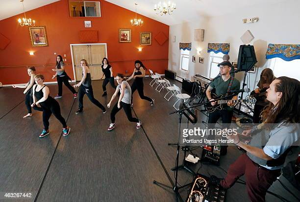 The contemporary dance troupe Collective Motions rehearses a 'hip hop' number with local band The Dapper Gents The groups will be performing together...