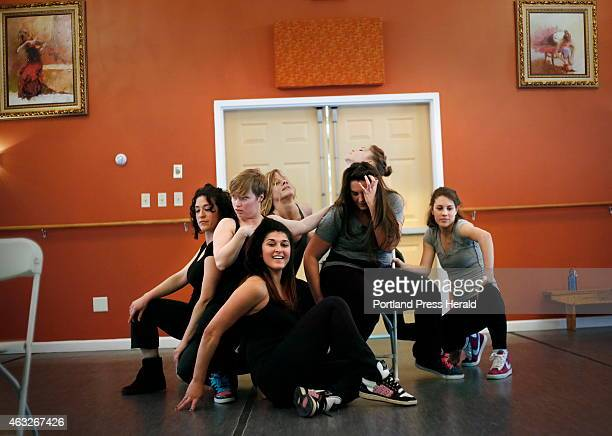 The contemporary dance troupe Collective Motions rehearses with local band The Dapper Gents The groups will be performing together at One Longfellow...