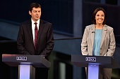 The contenders for the Scottish Labour leadership Kezia Dugdale and Ken Macintosh appear on the BBC Scotland 2015 debate program with presenter Sarah...