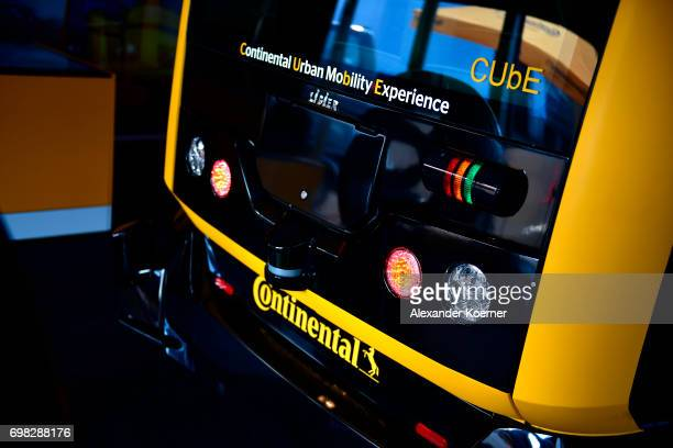 The Continental Urban Mobility Experience a robotaxi and autonomous vehicle to transport their passengers is presented during a media event by...