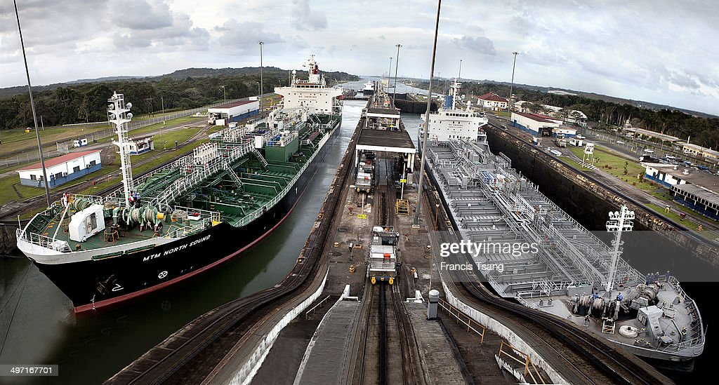 The control centre at the Exclusa Gatun lock on the Panama Canal 5th January 2012