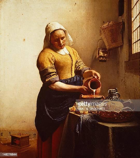 The cook by Jan Vermeer Amsterdam Rijksmuseum