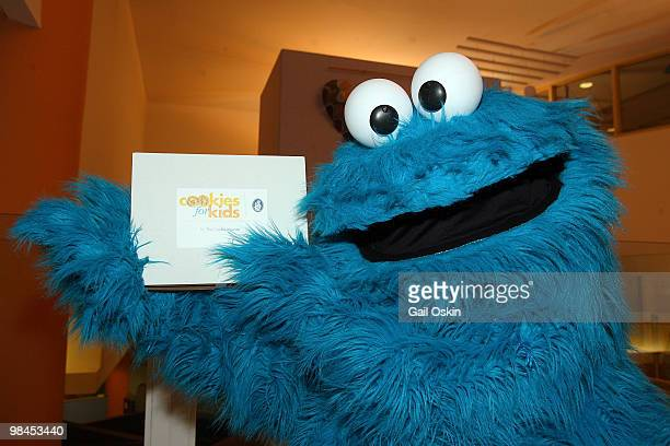 The Cookie Monster poses during the Midweek Morning Show at Children's Hospital Boston on April 14 2010 in Boston Massachusetts
