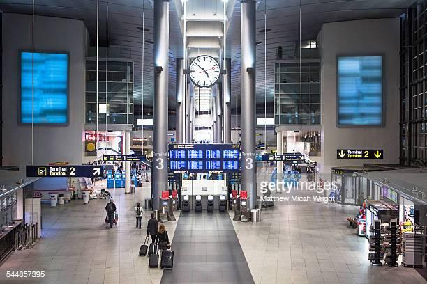 The Copenhagen international airport.