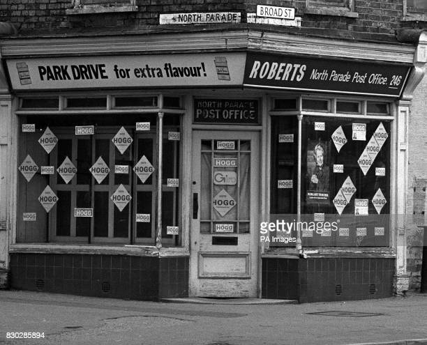 The corner shop grocery now unoccupied in Grantham which was owned by the parents of Conservative leader Mrs Margaret Thatcher who could become...