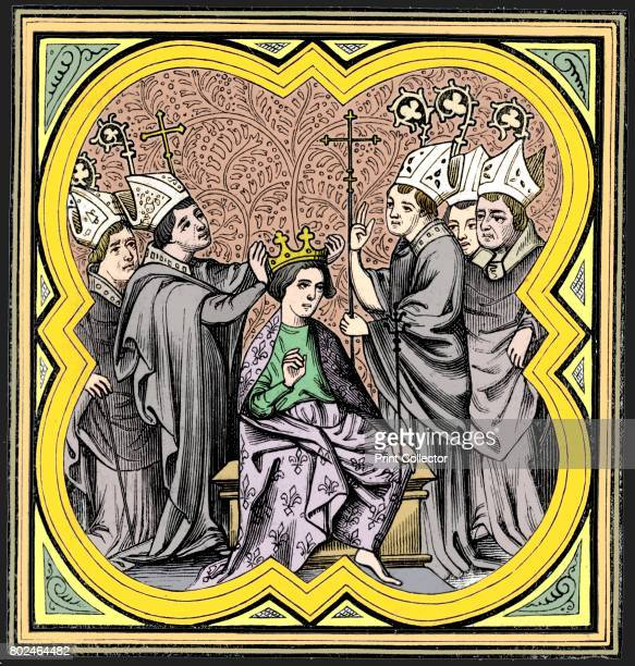 The coronation of Charlemagne King of the Franks and the Emperor of Rome 14th century A 19th century version based on an original 14th century...
