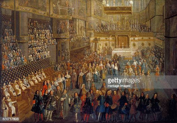 The coronation of Louis XV in the Rheims Cathedral 25 October 1722 Found in the collection of Musée de l'Histoire de France Château de Versailles