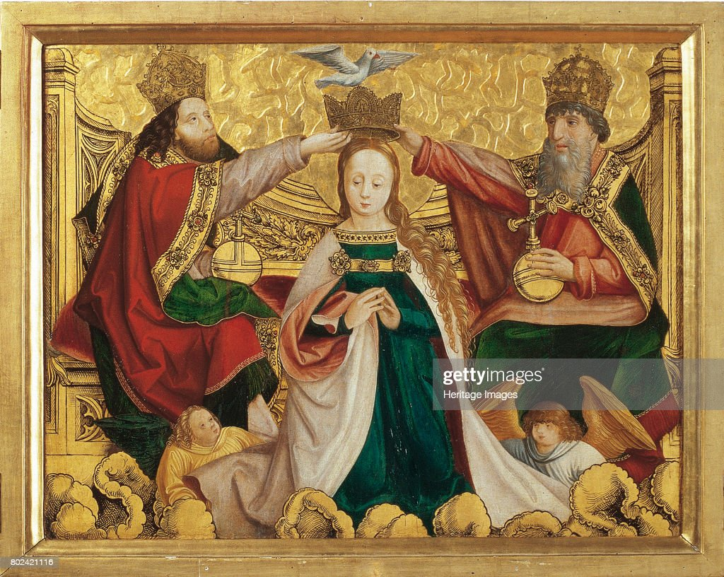 The Coronation of the Virgin with the Trinity, circa 1520. Found in the collection of Benediktinerstift Kremsm¸nster.